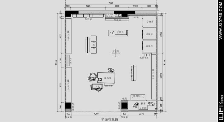 花园街19号店铺设计平面图